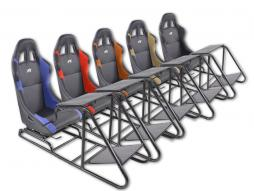 FK Gamesitz Spielsitz Rennsimulator eGaming Seats Estoril Kunstleder [verschiedene Farben]