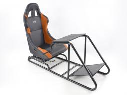 FK Gamesitz Spielsitz Rennsimulator eGaming Seats Estoril schwarz/orange