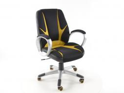 FK Sportsitz Bürodrehstuhl Oakland schwarz/gelb Chefsessel Drehstuhl Bürostuhl
