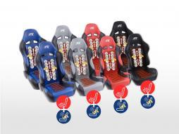 FK Sportsitze Auto Halbschalensitze Set Comfort mit Sitzheizung + Massagefunktion [verschiedene Farben]
