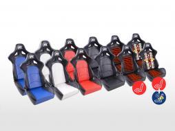 FK Sportsitze Auto Halbschalensitze Set Control in Motorsport-Optik Kunstleder [verschiedene Farben]