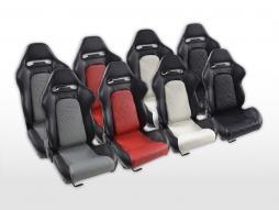 FK Sportsitze Auto Halbschalensitze Set Detroit Kunstleder mit Laufschienen [verschiedene Farben]