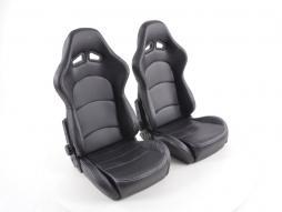 FK Sportsitze Auto Halbschalensitze Set mit Rückenschale aus Carbon